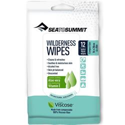 Sea To Summit Trek and Travel Wilderness Bath Wipes - S - 12 per pack-Not Applicable
