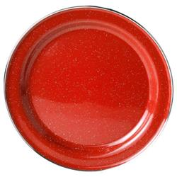 "GSI Outdoors Pioneer Plate Stainless Rim 10.375"" - Red-Not Applicable"