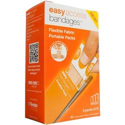 Easy Access Bandages Assorted Fabric 30ct