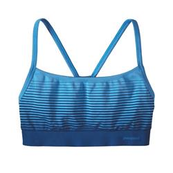Patagonia Active Mesh Bra - Womens-Ocean Stripe / Big Sur Blue