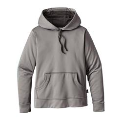 Patagonia Outline Text Logo PolyCycle Hoody - Womens-Feather Grey