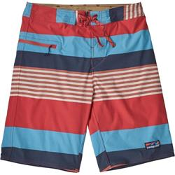 Patagonia Stretch Wavefarer Boardshorts - Mens-Fitz Stripe / Spiced Coral