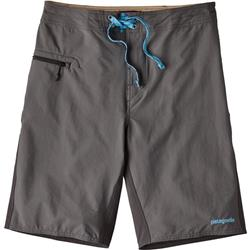 "Patagonia Stretch Wavefarer Board Shorts, 21"" Outseam - Mens-Forge Grey w/Ink Black"