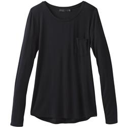 Prana Foundation LS Crew - Womens-Black