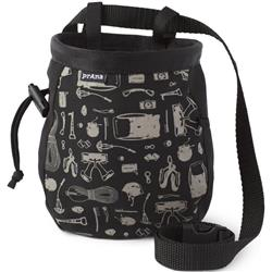 Prana Graphic Chalk Bag with Belt-Black