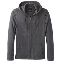 Prana Introit Full Zip Hood - Mens-Gravel