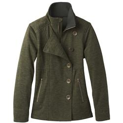 Prana Martina Heathered Jacket - Womens-Dark Olive