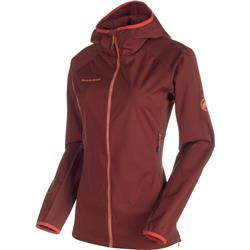 Mammut Keiko Light SO Hooded Jacket - Womens-Maroon