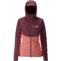 Rab Alpha Direct Jacket - Womens-Maple / Passata / Rococco