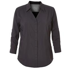 Royal Robbins Expedition 3/4 Sleeve - Womens-Jet Black