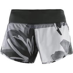 "Salomon Elevate 2 In 1 Short, 4"" Inseam - Black / Quiet Shade Print - Womens-Not Applicable"
