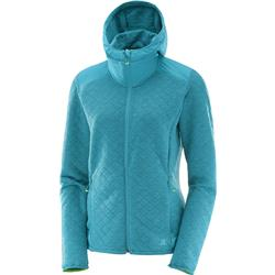 Salomon Elevate Full Zip Midlayer - Enamel Blue - Womens-Not Applicable