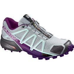 Salomon Speedcross 4 - Quarry / Acai / Fair Aqua - Womens-Not Applicable