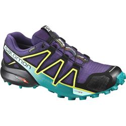 Salomon Speedcross 4 GTX - Acai / Deep Peacock Blue / Sulphur Spring - Womens-Not Applicable