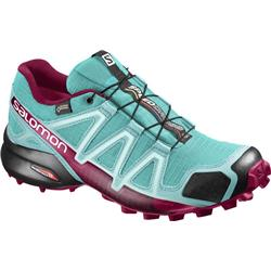 Salomon Speedcross 4 GTX - Ceramic / Aruba Blue / Sangria - Womens-Not Applicable