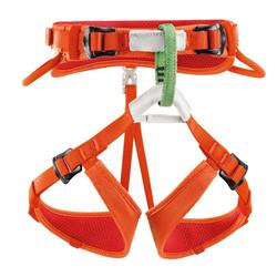 Petzl Macchu Sit Harness - Kids-Coral