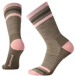 Smartwool Striped Hike Light Crew Socks - Womens-Fossil