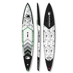 Kahuna Paddleboards Mako - Molokia Downwinder 14' - Carbon / Black / Green - Package-Not Applicable