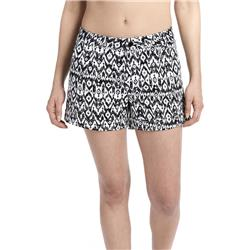 "Lole Casey Shorts, 3"" Inseam - Womens-Black Sizzle Ikat"