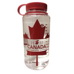 Red Pine Outdoor Canada 150 - Maple Leaf -VPO Logo - Wide Mouth Loop Top Bottle - 32oz / 1L-Clear
