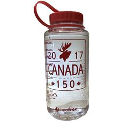 Red Pine Outdoor Canada 150 - Moose - VPO Logo - Wide Mouth Loop Top Bottle - 32oz / 1L-Clear
