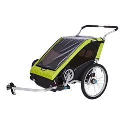 Thule Chariot Cheetah XT 2 + Cycle/Stroll-Chartreuse