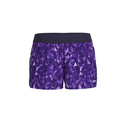 "Icebreaker Comet Shorts, 3"" Inseam - Lattice Sky - Womens-Aura / Vivid"
