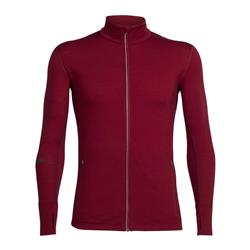 Icebreaker Incline LS Zip - Mens-Oxblood