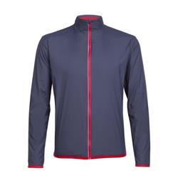 Icebreaker Incline Windbreaker - Mens-Stealth / Rocket