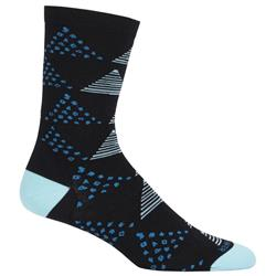 Icebreaker Lifestyle Crew Socks - Ultralight Cushion - Dot and Dash - Womens-Black / Teardrop
