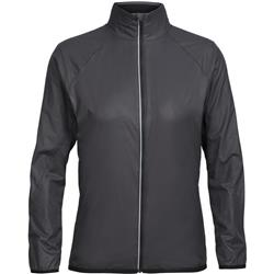 Icebreaker Rush Windbreaker - Womens-Black / Embossed