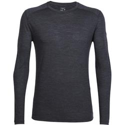 Icebreaker Sphere LS Crewe - Mens-Black Heather