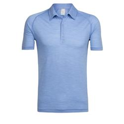Icebreaker Sphere SS Polo - Mens-Chalk Blue Heather