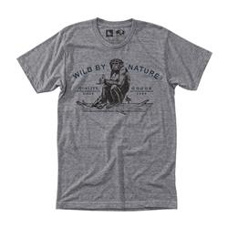 Hippy Tree Chimp SS Tee - Mens-Heather Grey