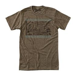 Hippy Tree Frontier Tee - Mens-Heather Brown