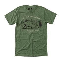 Hippy Tree Stampede Tee - Mens-Heather Army