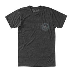 Hippy Tree Village Tee - Mens-Heather Charcoal