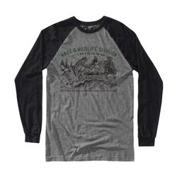 Hippy Tree Bait LS Tee - Mens-Heather Grey