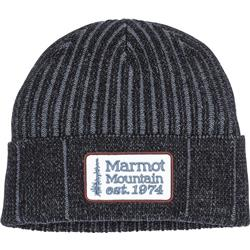 Marmot Retro Trucker Beanie-Black / Steel Onyx