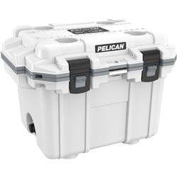 Pelican Products Elite Cooler 30QT-White / Grey