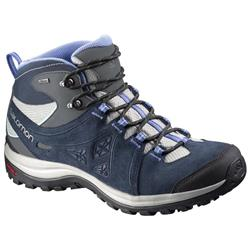 Salomon Ellipse 2 Mid LTR GTX - Titanium / Deep Blue / Petunia Blue - Womens-Not Applicable