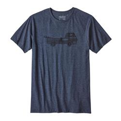 Patagonia Pickup Lines Cotton/Poly T-Shirt - Mens-Navy Blue