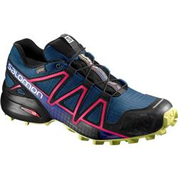 Salomon Speedcross 4 GTX - Poseidon / Virtual Pink / Sunny Lime - Womens-Not Applicable