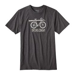 Patagonia Snow Cycle Cotton/Poly Responsibili-Tee - Mens-Forge Grey