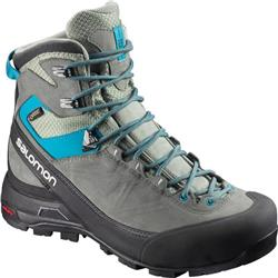 Salomon X Alp Mtn GTX - Shadow / Castor Gray / Enamel Blue - Womens-Not Applicable