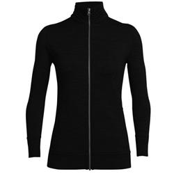 Icebreaker Dia LS Zip - Womens-Black
