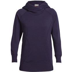 Icebreaker Dia Pullover Hoody - Womens-Burgundy Heather