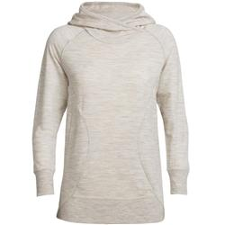 Icebreaker Dia Pullover Hoody - Womens-Fawn Heather