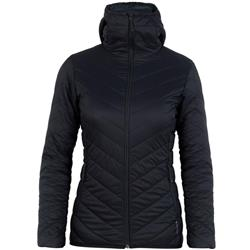 Icebreaker Hyperia Hooded Jacket - Womens-Black