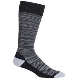 Icebreaker Lifestyle OTC Tree Line Socks - Light Cushion- Womens-Jet / Snow